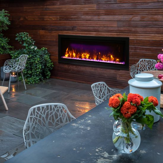 """42"""" Electric Fireplace Built-in with log and glass SYM-42"""
