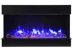 60″ – 3 sided glass fireplace 60-TRV-slim
