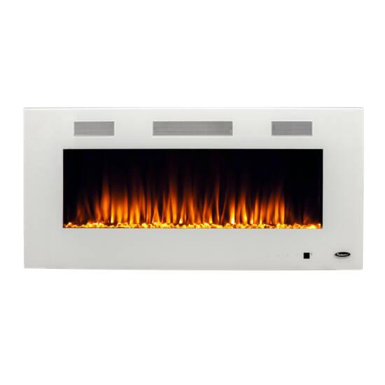 "Paramount Premium Recessed or Surface Mount Fireplace EF-WM373 MO, White, 42"""