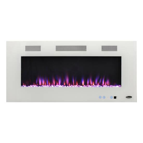 "Paramount Premium Recessed or Surface Mount Fireplace,EF-WM391 MO, White, 50"""