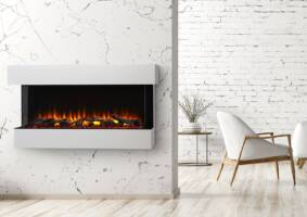 SimpliFire Scion Trinity Electric Fireplace, SF-SCT55-BK, 55""