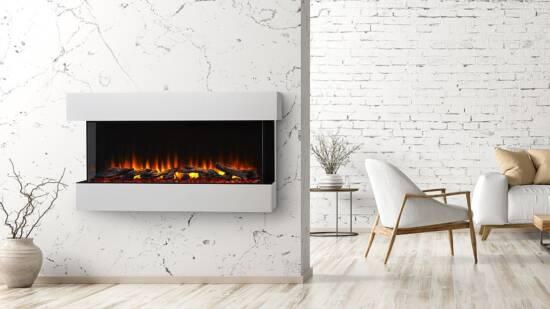 "SimpliFire Scion Trinity Electric Fireplace, SF-SCT55-BK, 55"""